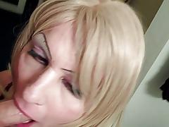 Milquetoast Crossdresser KynkiNikki gets the brush load of shit sucked
