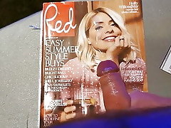 Holly willoughby cumtribute 218 Peppery Newspaper