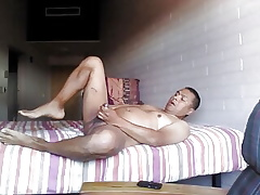 Hot pauper spreads his botheration increased by rubs his bushwa in the balance he cums