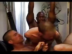 3 Unscrupulous Cocks Making out 2 Waxen Guys Eternal Coupled with Eternal