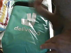 Way-out Deliveroo witch cum.