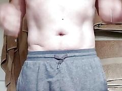 Fat horseshit grandpa undresses
