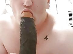 Marcel Lokken Sucking BBC DILDO