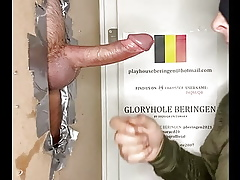 DIQSUQR - Gloryhole deepthroating a fat dick!