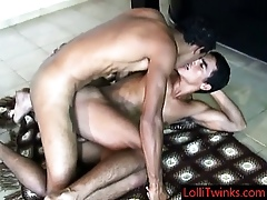 Duo lating blithe hunks shagging together with sucking Wide of Lollitwinks