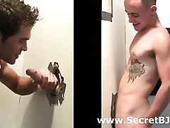 Muscled direct bushwa sucked to hand joyful gloryhole