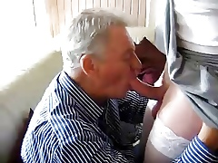 granpa sucking crossdresser boy's blarney