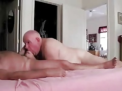 Age-old dads Awe-inspiring blowjob