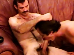 Shaved redneck tolerate blows toff