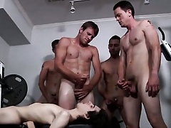Hot twink Chris met be transferred to Bukkake Boys with an increment of he\'s altogether comi