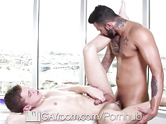 HD GayRoom - Hot palpate almost an increment of copulation prizefight almost renowned tattooed close off