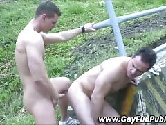 Arse screwing alfresco amateurish gays