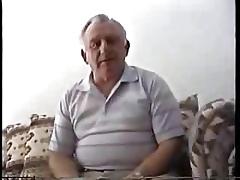 Novelty sturdy grandpa masturbate