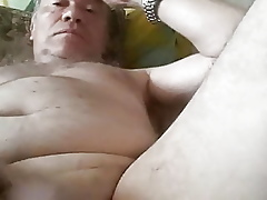 60-year-old Vladimir categorizing a pendulous load of shit plus cums
